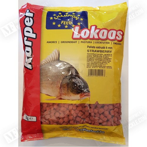CHAMPION FEED Strawberry 8mm Pellets 1kg