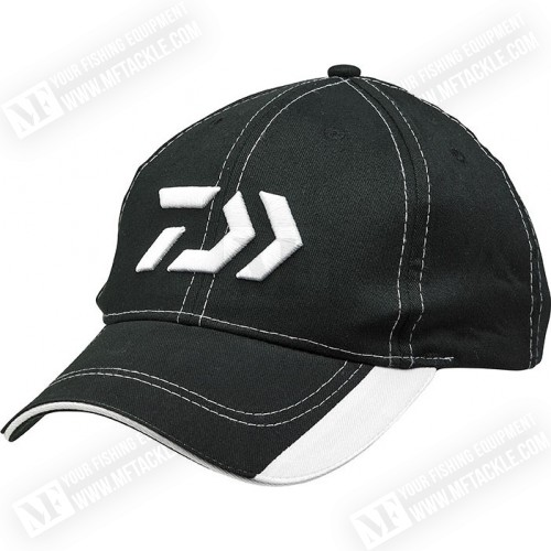 DAIWA Black and White Cap