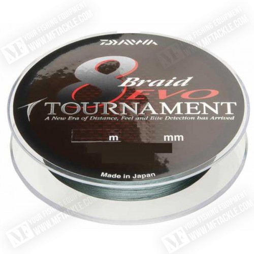DAIWA Tournament 8 EVO Braid 300m - Dark Green