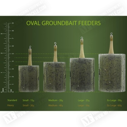 DRENNAN Oval Groundbait Feeder Standard